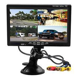 Podofo 7 Inch HD 4 Split Quad Video Displays TFT LCD Rear Vi