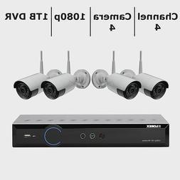 Brand New Lorex 4-Channel 4-Camera 1080p Wireless Security S