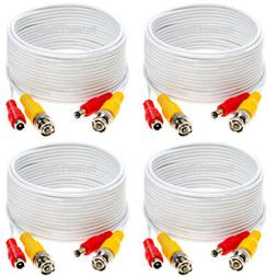 4 x 100ft Security Camera Cable CCTV Video Power Wire BNC RC