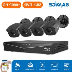 SANNCE 4CH 1080N CCTV DVR 1500TVL HD IR Outdoor Home Securit