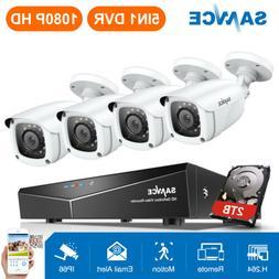 SANNCE 5in1 Full 1080P 4CH DVR HD 2MP Video Outdoor CCTV Sec
