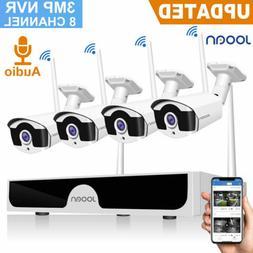 JOOAN 8CH 1080P NVR 2MP WIFI Wireless Security Camera CCTV H