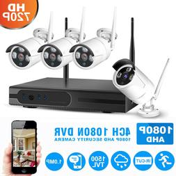 4CH 1080P NVR Wifi Wireless 720P Camera Outdoor Surveillance
