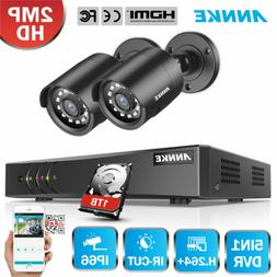 ANNKE 4CH 5in1 DVR 1080P HD Security Camera System Email Ale