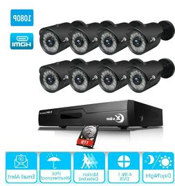 XVIM 4CH 8CH 1080P HDMI DVR Outdoor CCTV Surveillance Securi