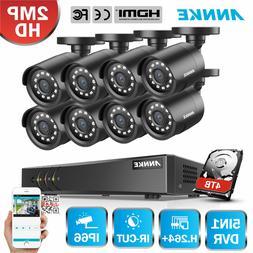ANNKE H.264+ 4CH 8CH 5in1 1080P Lite DVR CCTV 2MP Outdoor Ca