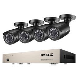 ZOSI 8CH H.265+ 5MP Lite DVR 1080P Outdoor CCTV Home Securit