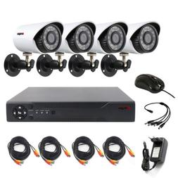 4CH CCTV Security Camera System Kit AHD DVR IR Night Vision