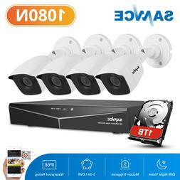 SANNCE 4CH 1080P HDMI DVR Video IR HD CCTV Security Cameras