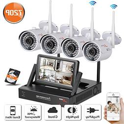 Wifi Security Camera System 4CH 960P Indoor/Outoodr Wirelss