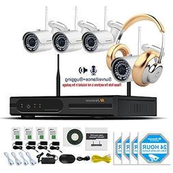 Jennov Wireless Security Camera System 4CH 1080P NVR Kit Wit