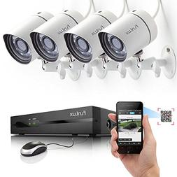 Funlux 4CH 720P NVR PoE Security System w/ 4x Night Vision I