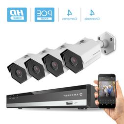 Amcrest 2MP 1080P Security Camera System, w/ 4K 4CH PoE NVR,