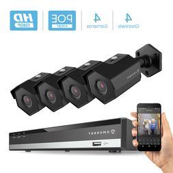 Amcrest 4CH Plug & Play H.265 6MP NVR 2MP 1080P Security Cam