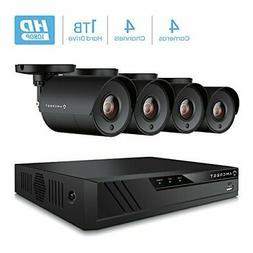 Amcrest 4CH Security Camera System Full 1080P
