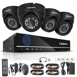FREDI 4CH Security Camera System Full 96