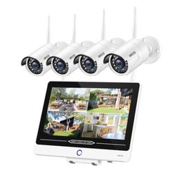 4 Channel 1080P Wireless Security Camera System 1TB HDD 4 2M