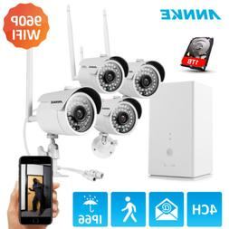 ANNKE 4CH Home Wireless Security System 960P NVR 4x 720P WIF