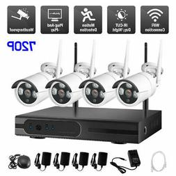 4CH Wireless 1080P NVR WIFI Outdoor IR 720P IP Camera Securi