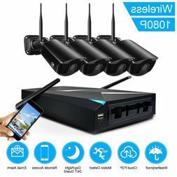JOOAN 4CH Wireless Wifi 1080P NVR IP Network Security Camera
