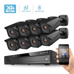 Amcrest 4K 16Ch Security Camera System with H.265 8MP NV4116