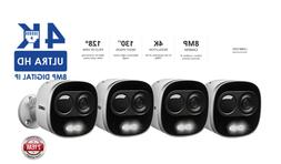 Lorex 4K IP Two-Way Talk Active Deterrence Security Cameras,