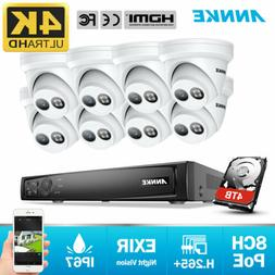 ANNKE 4K POE 8CH NVR 8MP Video Smart Outdoor Security Camera