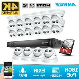 ANNKE 4K POE KIT 16CH 8MP NVR Camera Network PoE Surveillanc