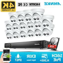 ANNKE 4K POE Security Camera System 16CH NVR 8MP Video Outdo