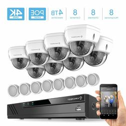 Amcrest 4K Security Camera System 8CH NVR 4TB HDD 8X POE Cam