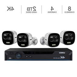 Lorex 4K Ultra HD IP NVR 4 UHD Active Deterrence Security Ca