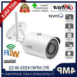 Dahua 4MP Bullet Wireless WiFi Camera IPC-HFW1435S-W-S2 2.8m
