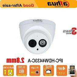 Dahua 4MP IPC-HDW4433C-A 2.8MM IR CCTV Cameras poe Home Audi
