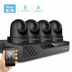 Amcrest 4MP Security Camera System 4K 8CH NVR 4 x 4MP Dome W