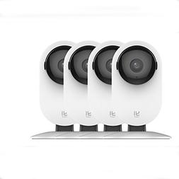 YI 4pc 1080p Home Wireless IP Security Camera System w/ Nigh