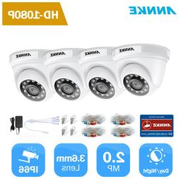 ANNKE 4pcs 1080P HD Outdoor Security Camera 2MP Video Survei