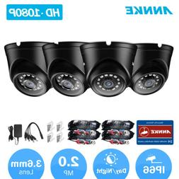 ANNKE 4PCS 1080P Home Security Metal Dome Camera IR Night Vi