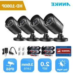 ANNKE 4pcs 3000TVL Full 1080P CCTV Security TVI Camera Outdo