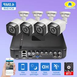4pcs 4MP 4CH AHD DVR CCTV <font><b>Camera</b></font> <font><