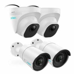 4pcs 5MP 1920p PoE IP Camera Security Surveillance Outdoor D