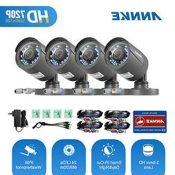 ANNKE 4pcs 720P TVI 1500TVL Bullet CCTV Security Camera Outd