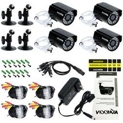 4pcs AHD 720P Weatherproof CCTV Cameras Kit IR CUT Color CMO