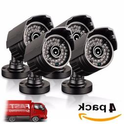 4pcs Full HD 1080p Bullet Security Camera 82ft Night Vision