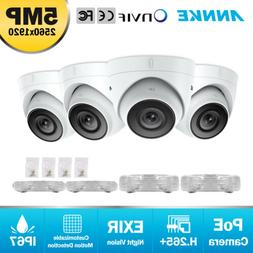 ANNKE 4pcs Ultra HD 5MP IP Network PoE Outdoor Dome Home Sec