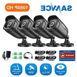 SANNCE 4pcs HD 720P 1500TVL Indoor Outdoor Security CCTV Cam