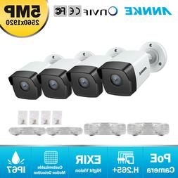 ANNKE 4pcs Ultra HD 5MP POE Smart Outdoor Security IP Camera