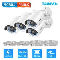 ANNKE 4x 1080P Outdoor POE 2MP Metal Security Camera IP Netw