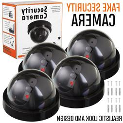 4X Fake Dummy Dome Surveillance Security Camera IR LED Light