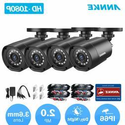 ANNKE 4Pcs HD 1080P CCTV Camera Indoor/Outdoor IR Security S