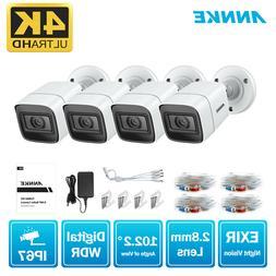 ANNKE 4x 4K 8MP CCTV Security Camera IP67 IR Night Vision Ou